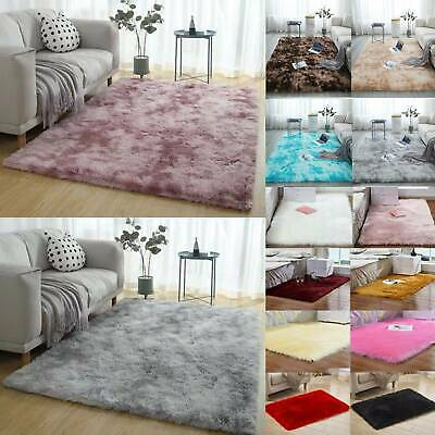 Washable Anti-Skid Shaggy Soft Big Rug Faux Fur Carpet Bedroom Lounge Floor Mats