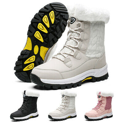 Womens Winter Snow Boots High Top Waterproof Outdoor Fur Warm Walk Casual Shoes