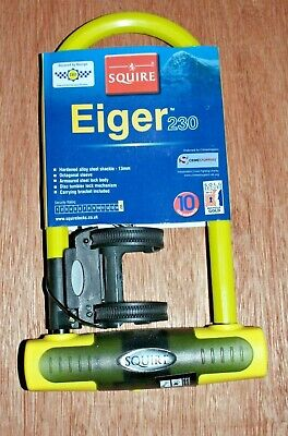 Squire Eiger 230mm x 13mm Bike Hi Security Shackle U Lock Sold Secure Gold Rated
