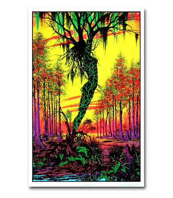 Funky Swamp Mirage Blacklight Responsive Poster