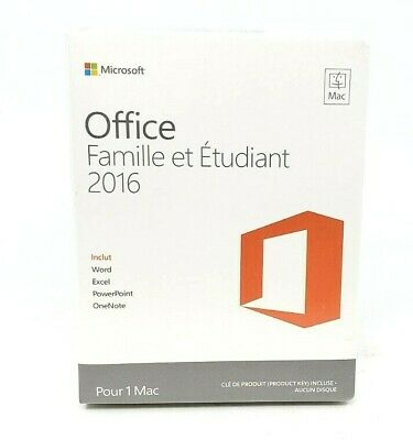 Microsoft Office Home and Student 2016 FRENCH EDIION for 1 Windows PC™