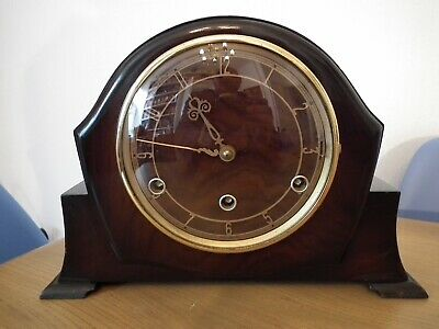 Vintage Perivale Movement Westminster Chimes Mantle Clock