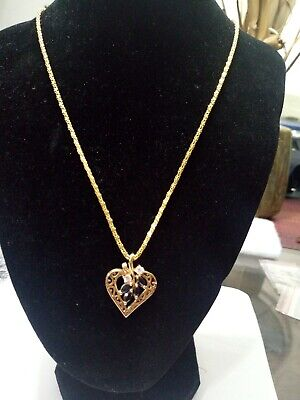 Beautiful Sapphire On Gold-plated Necklace Very Nice