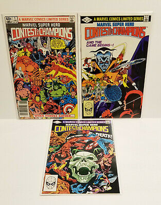 Contest of Champions # 1 - 3 Complete Set (Marvel 1982)