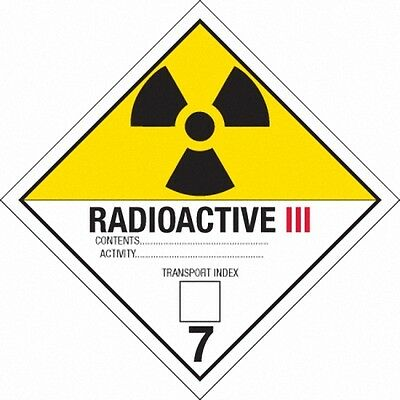 Back to the Future Plutonium Case Radioactive Labels Movie Prop Replicas