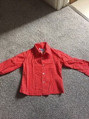 Girls Vintage Pointy Collar Blouse Shirt 2 to 3 Years