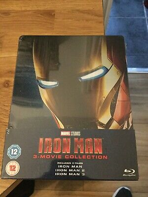 Marvel Iron Man Trilogy Limited Edition Blu Ray Steelbook(New/Sealed)