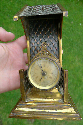 Antique 8-day PARKER - GOTHIC Chair/Building? Mantle Clock & Calendar?