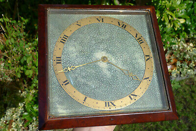 Quality Vintage Ormolu SHAGREEN Strut Mantel/Desk Clock 8-days Jewelled esc.