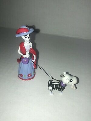 Hallmark Day Of The Dead Skeleton Lady And Dog Ornament.