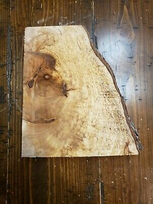 """Figured Maple Lumber 7 1/2""""x6 1/2""""x1 3/4"""" Carving Craft Art Knife Call MB264"""
