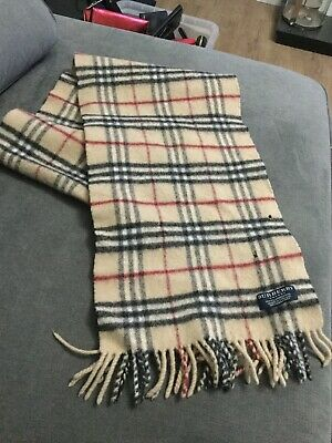Authentic BURBERRY Nova Check Lambswool Scarf