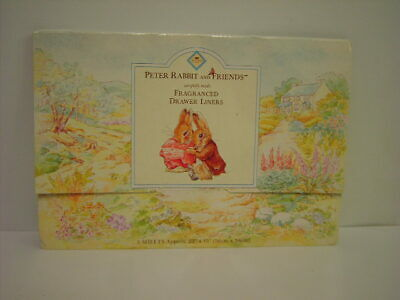 Peter Rabbit and Friends Scented Drawer Liners By Grosvenor Never Used