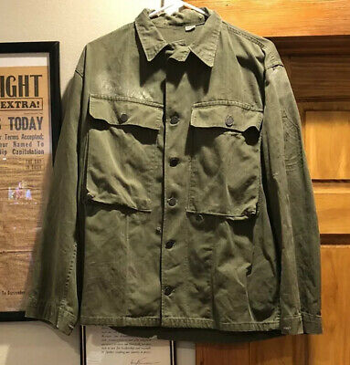 WW2 Herringbone Twill (HBT) 13 Star Combat Jacket