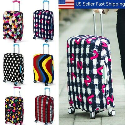 24' Colorful Elastic Luggage Travel Bag Suitcase Protector Cover Dust-proof  US