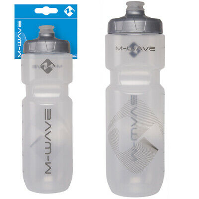 Mwave Mighty Bike Water Cycle Drinks Bottle with Cap 700ml Transparent Black