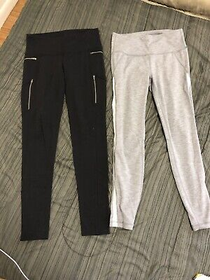 Two Pairs Of Athleta Leggings, Small, Grey And Black