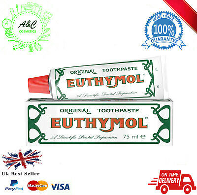 Euthymol Toothpaste Original Anti Plaque Teeth and Gums Oral Care 75ml