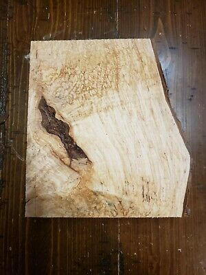 """Figured Maple Lumber 7 3/4""""x7""""x1 3/4"""" Carving Craft Art Knife Call MB265"""