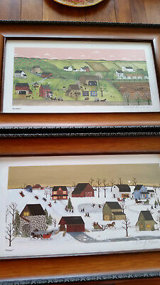 Two Signed Framed Cheryl Benner Prints Winter and Seedtime