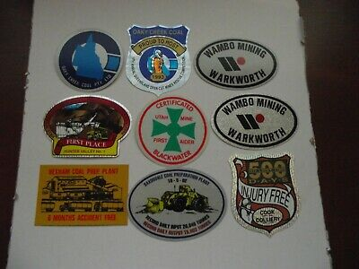 9 Mixed Mining Stickers