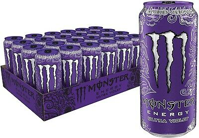Monster Energy Ultra Violet Sugar Free Energy Drink 16 Ounce Pack of 24