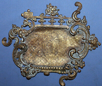 Antique Hand Made Victorian Floral Bronze Photo Frame