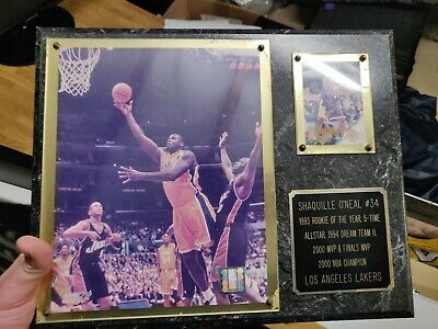 Shaquille o'neal Plaque rookie card and photo