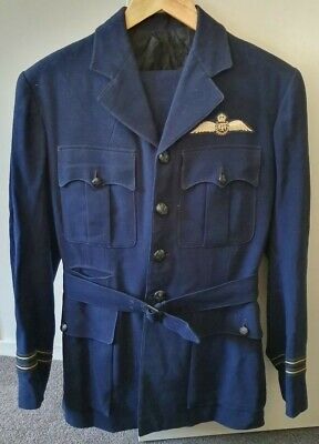 WW2 World War II Era Australian RAAF Pilot Navy Blue Dress Uniform