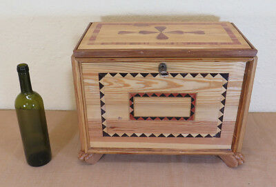 Box Vintage Jewelry Wooden Inlaid Box Bauletto Trunk Gf
