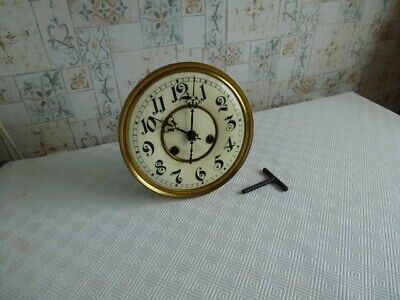 antique wall clock movement 8in dial