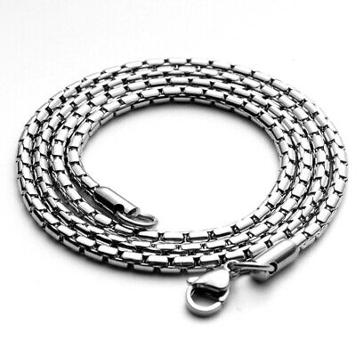 Wholesale 316L Stainless Steel Square Box Rolo Chain Necklace 20''22''24''28''