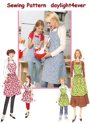 Women Girls Retro Vintage Apron Sewing Pattern Simplicity 3949 New 3 Styles #v