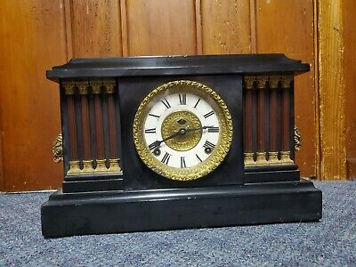 Vintage Mantel Clock parts or repair only clock does not run. Beautiful case.
