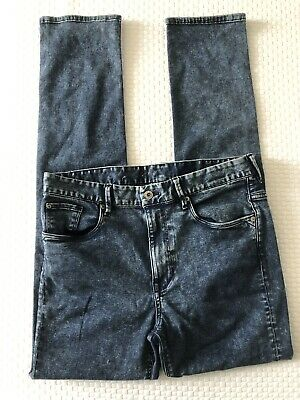 SIZE 14+ EU 170cm STRETCH SKINNY FIT H&M BOYS DISTRESSED DENIM BLUE JEANS BNWOT