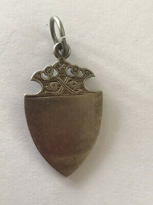 Antique Victorian Sterling Silver Watch Fob Medal @ 1900 - Bham