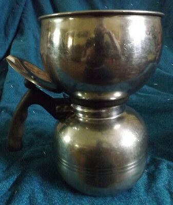 vtg Nicro Stainless Steel Vacuum Brewer Percolator Two Piece Coffee Pot