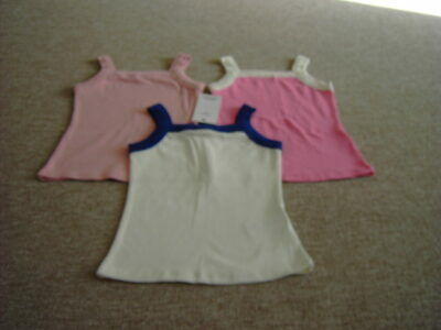 Marks and Spencer Pack of Three Girls Tops Age 7-8 years BNWT