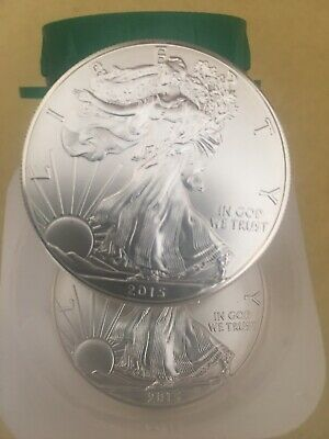 2015 $1.GEM BU American Silver Eagle 1 Troy OZ .999 Fine Coin *from mint tube