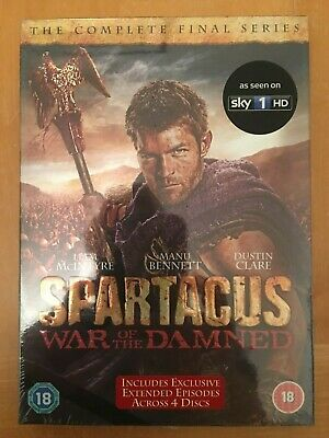 Spartacus:War of the Damned [DVD] - Region 2 *NEW & SEALED*