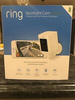 Ring Spotlight Cam Battery HD Security Camera with Built Two-Way Talk