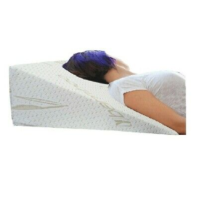 Bamboo Bed Wedge Foam Pillow Hypo Allergenic Snoring Acid Reflux Back Pain Snore