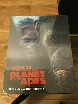War for the Planet of the Apes UHD/3D FilmArena Unnumbered SteelBook w/Lenti