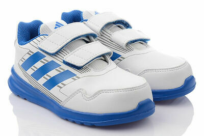 Adidas Junior Altarun Cf I Trainers Size 7.5 Blue And White New And Boxed