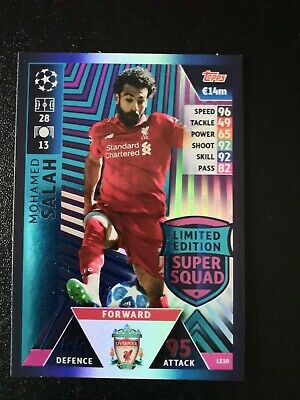 Match Attax Champions League 18/19 2018/19 LE10 Mohamed Salah Limited Edition