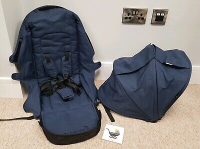 Baby Jogger City Premier replacement seat fabrics with hood Indigo Blue 001