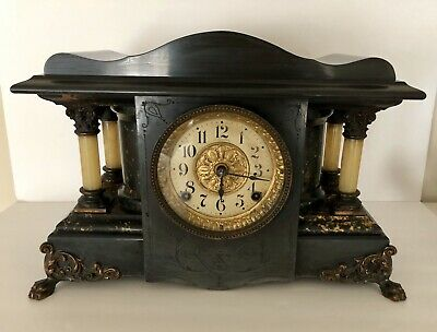 Antique Seth Thomas 4 Column Mantle Clock