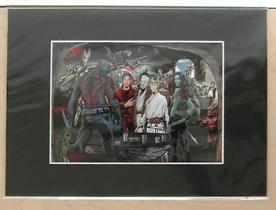 A4 Framed Canvas Print Guardians of the Galaxy by Dan Avenell - NEW - RRP £15.00