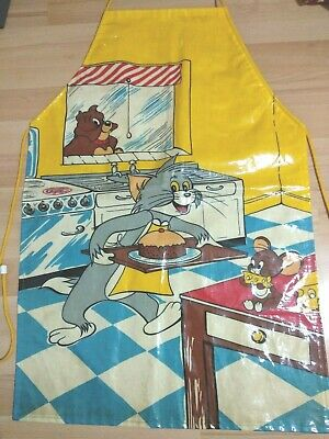 Oilcloth Apron Tom & Jerry Kitchen Childrens Cooking Cartoon Minky Vintage 1977
