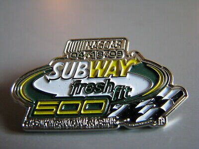 2009 Subway Fresh Fit 500 Phoenix Nascar Racing Event Hat Pin